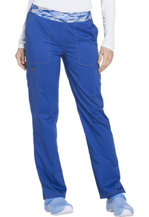 Dickies Essence Mid Rise Tapered Leg Pull-on Pant in Galaxy Blue (DK140-GAB)