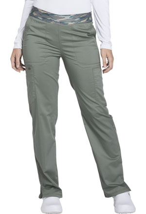 Dickies Essence Mid Rise Tapered Leg Pull-on Pant in Olive (DK140-OLV)