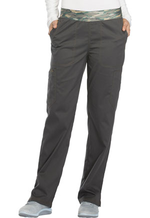 Dickies Essence Mid Rise Tapered Leg Pull-on Pant in Pewter (DK140-PWT)