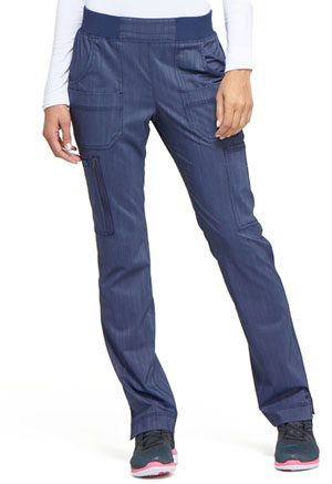 Dickies Advance Two Tone Twist Mid Rise Tapered Leg Rib Knit Waist Pant in D Navy Twist (DK165-NAVT)