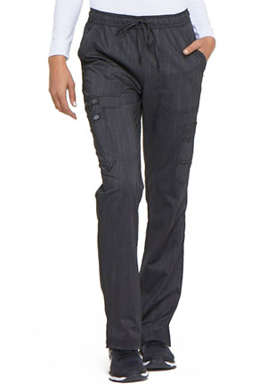 Dickies Advance Two Tone Twist Mid Rise Boot Cut Drawstring Pant in Onyx Twist (DK170-ONXT)