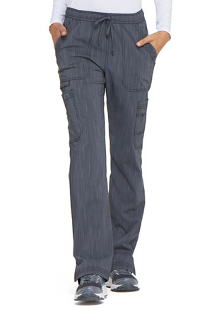 Dickies Advance Two Tone Twist Mid Rise Boot Cut Drawstring Pant in Pewter Twist (DK170-PWTT)
