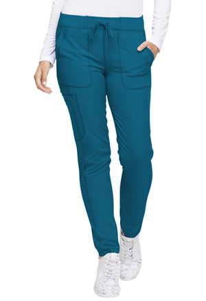 Dickies Dynamix Natural Rise Skinny Drawstring Pant in Caribbean Blue (DK190-CAR)