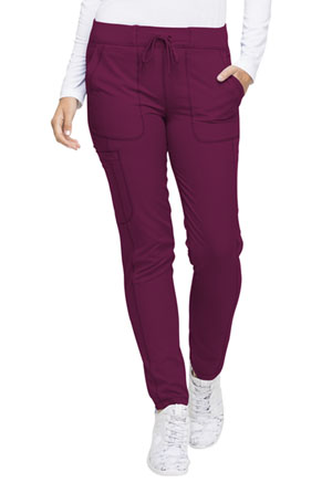 Dickies Dynamix Natural Rise Skinny Drawstring Pant in Wine (DK190-WIN)