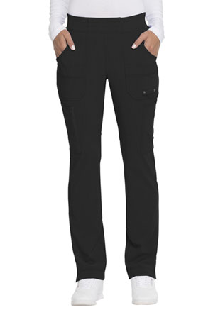 Dickies Advance Solid Tonal Twist Mid Rise Tapered Leg Pull-on Pant in Black (DK195-BLK)