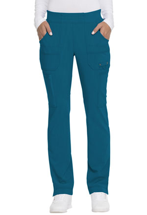 Dickies Advance Solid Tonal Twist Mid Rise Tapered Leg Pull-on Pant in Caribbean Blue (DK195-CAR)