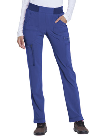 Dickies Advance Solid Tonal Twist Mid Rise Tapered Leg Pull-on Pant in Galaxy Blue (DK195-GAB)