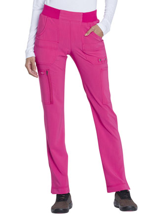 Dickies Advance Solid Tonal Twist Mid Rise Tapered Leg Pull-on Pant in Hot Pink (DK195-HPKZ)