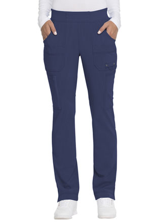 Dickies Advance Solid Tonal Twist Mid Rise Tapered Leg Pull-on Pant in D-Navy (DK195-NVYZ)
