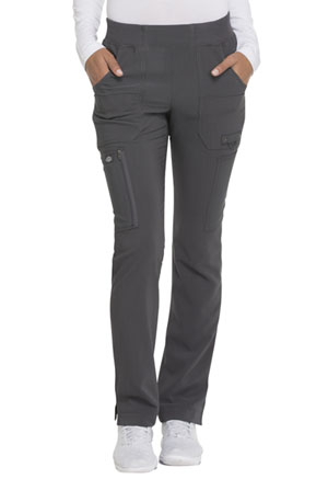 Dickies Advance Solid Tonal Twist Mid Rise Tapered Leg Pull-on Pant in Pewter (DK195-PWT)