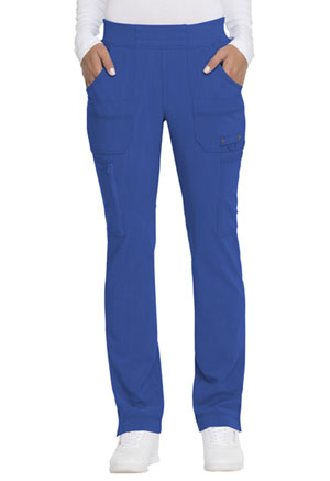 Dickies Advance Solid Tonal Twist Mid Rise Tapered Leg Pull-on Pant in Royal (DK195-ROY)