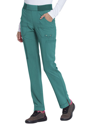 Dickies Advance Solid Tonal Twist Mid Rise Tapered Leg Pull-on Pant in Teal Blue (DK195-TLB)