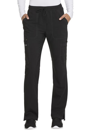 Dickies Advance Solid Tonal Twist Mid Rise Boot Cut Drawstring Pant in Black (DK200-BLK)