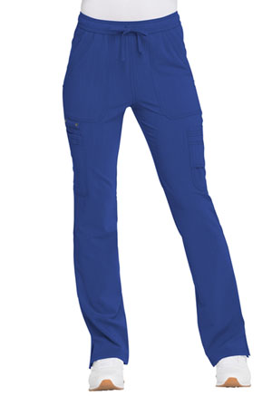 Dickies Advance Solid Tonal Twist Mid Rise Boot Cut Drawstring Pant in Galaxy Blue (DK200-GAB)