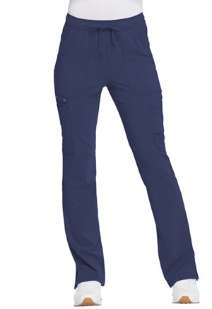 Dickies Advance Solid Tonal Twist Mid Rise Boot Cut Drawstring Pant in D-Navy (DK200-NVYZ)