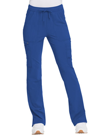 Dickies Advance Solid Tonal Twist Mid Rise Boot Cut Drawstring Pant in Royal (DK200-ROY)