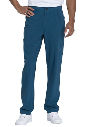 Dickies Advance Solid Tonal Twist Men's Straight Leg Zip Fly Cargo Pant in Caribbean Blue (DK205-CAR)