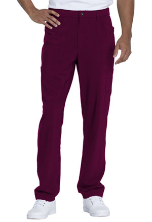 Dickies Advance Solid Tonal Twist Men's Straight Leg Zip Fly Cargo Pant in Wine (DK205-WIN)