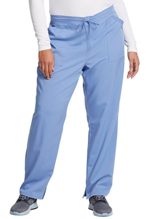 Dickies Balance Mid Rise Tapered Leg Drawstring Pant in Ciel Blue (DK212-CIE)