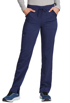 Dickies Balance Mid Rise Tapered Leg Drawstring Pant in Navy (DK212-NAV)