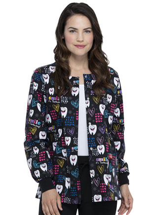 Dickies Prints Snap Front Warm-Up Jacket in Smile It's Toothsday (DK301-SITD)