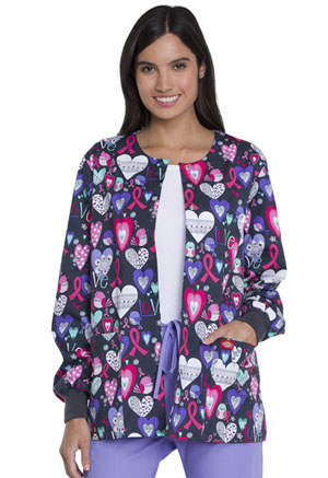 Dickies Prints Snap Front Warm-Up Jacket in Tweeting About Love (DK301-TEAO)