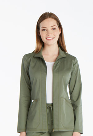 Dickies Essence Warm-up Jacket in Olive (DK302-OLV)