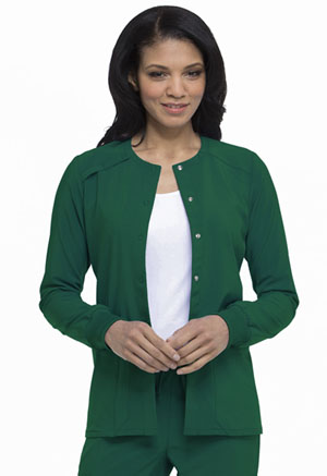 Dickies EDS Essentials Snap Front Warm-up Jacket in Hunter Green (DK305-HNPS)