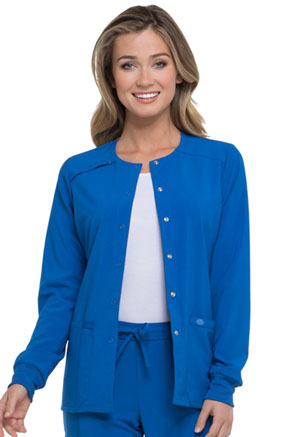 Dickies EDS Essentials Women's Snap Front Warm-up Jacket Blue