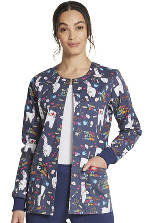 Dickies Prints Snap Front Warm-Up Jacket in Trama Llama (DK306-TRLL)