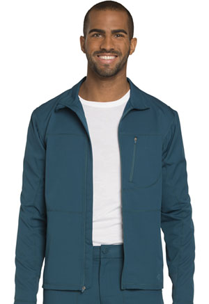 Dickies Dynamix Men's Zip Front Warm-up Jacket in Caribbean Blue (DK310-CAR)