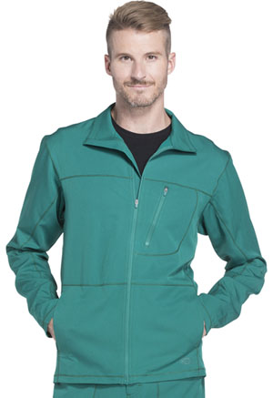 Dickies Dynamix Men's Zip Front Warm-up Jacket in Hunter Green (DK310-HUN)