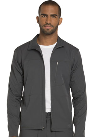 Dickies Men's Zip Front Warm-up Jacket Pewter (DK310-PWT)