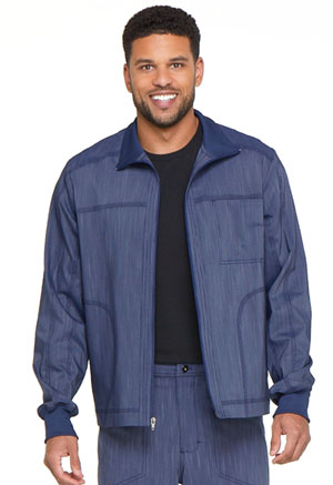 Dickies Advance Two Tone Twist Men's Zip Front Moto Jacket in D Navy Twist (DK315-NAVT)