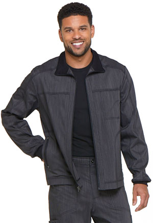 Dickies Advance Two Tone Twist Men's Zip Front Moto Jacket in Onyx Twist (DK315-ONXT)