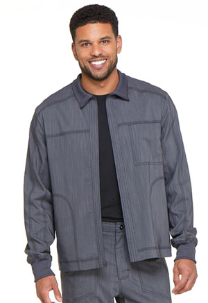 Dickies Advance Two Tone Twist Men's Zip Front Moto Jacket in Pewter Twist (DK315-PWTT)