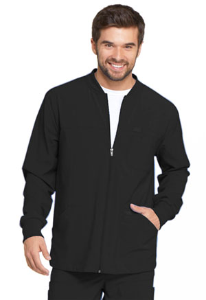 Dickies EDS Essentials Men's Zip Front Warm-Up Jacket in Black (DK320-BAPS)