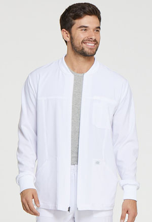 Dickies EDS Essentials Men's Zip Front Warm-Up Jacket in White (DK320-WTPS)