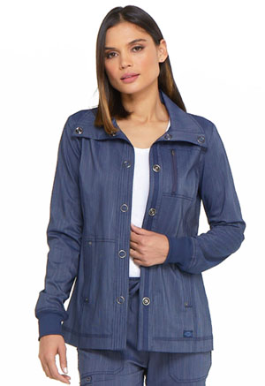 Dickies Advance Two Tone Twist Snap Front Jacket in D Navy Twist (DK325-NAVT)