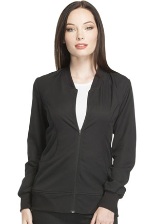 Zip Front Warm-up Jacket (DK330-BLK)