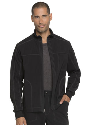 Dickies Advance Solid Tonal Twist Men's Zip Front Jacket in Black (DK335-BLK)