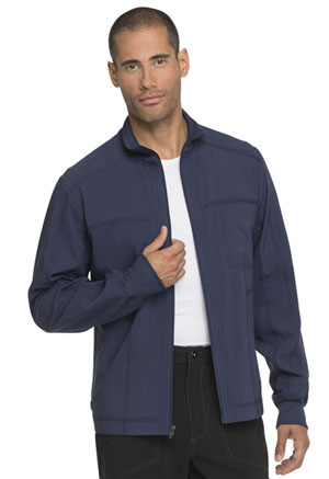 Dickies Advance Solid Tonal Twist Men's Zip Front Jacket in D-Navy (DK335-NVYZ)