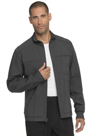 Dickies Advance Solid Tonal Twist Men's Zip Front Jacket in Pewter (DK335-PWT)