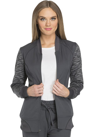 Zip Front Warm-up Jacket (DK340-PWT)