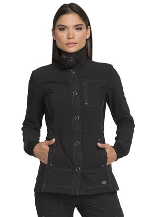 Dickies Advance Solid Tonal Twist Snap Front Jacket in Black (DK345-BLK)