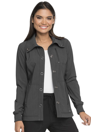 Dickies Advance Solid Tonal Twist Snap Front Jacket in Pewter (DK345-PWT)