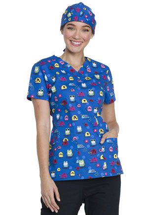 Dickies Prints Scrub Hat in Cool Bugs (DK501-COBU)