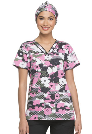 Dickies Prints Scrub Hat in Peek A Blooms (DK501-PKMS)