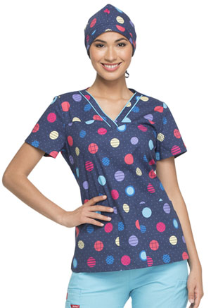 Dickies Prints Scrub Hat in Polka Dot Power (DK501-POLW)