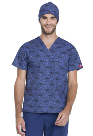 Dickies Prints Scrub Hat in Shark Week (DK501-SHWK)
